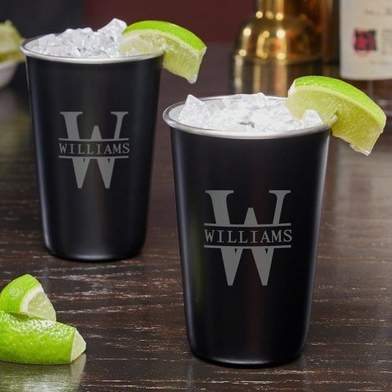 Personalized Stainless Steel Cocktail Glasses