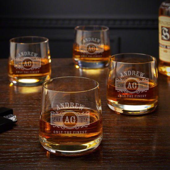 Four Benson Style Scotch Glasses
