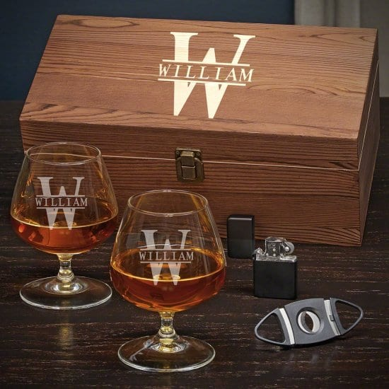 Personalized Cognac Glasses Boxed Set