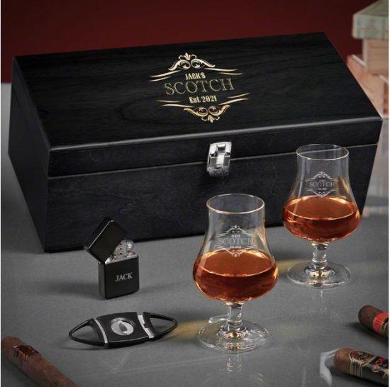 Engraved Scotch Tasting Box Set