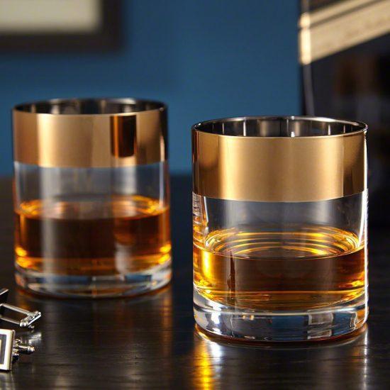 Brass Rim Bourbon Tumblers