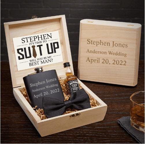 Customizable Best Man Gifts Set