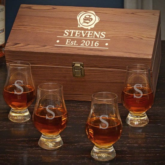 Glencairn Glasses & Box for his 40th