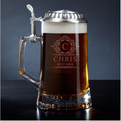 Engraved Beer Stein Best Man Gifts