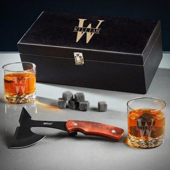 Custom Whiskey and Hatchet Box Set