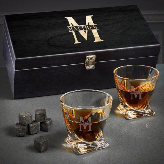 Twist Whiskey Glass Set of Groomsmen Gifts