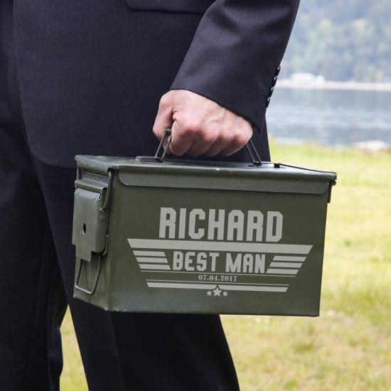 Best man engraved ammo can gift box