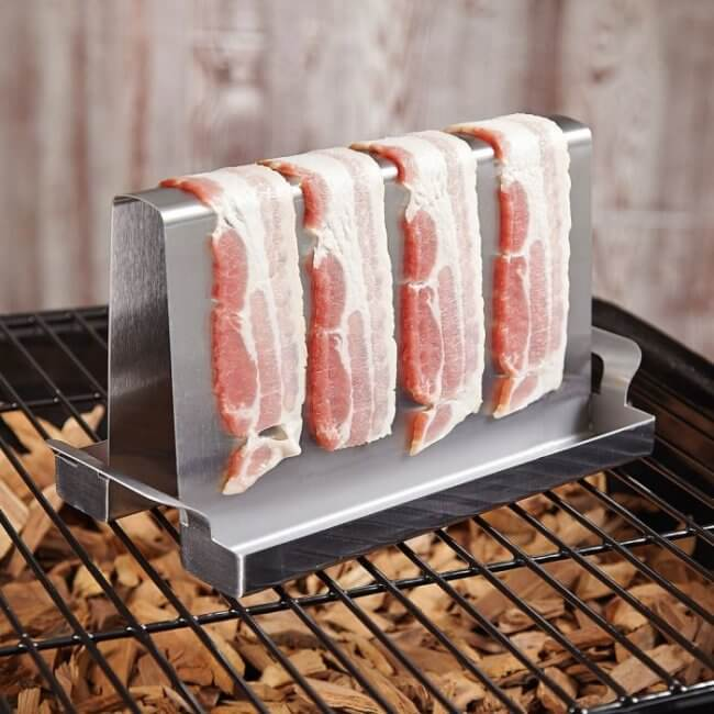 bacon on the grill wedding present