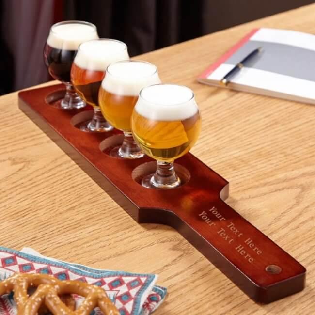 beer flight groomsman gift