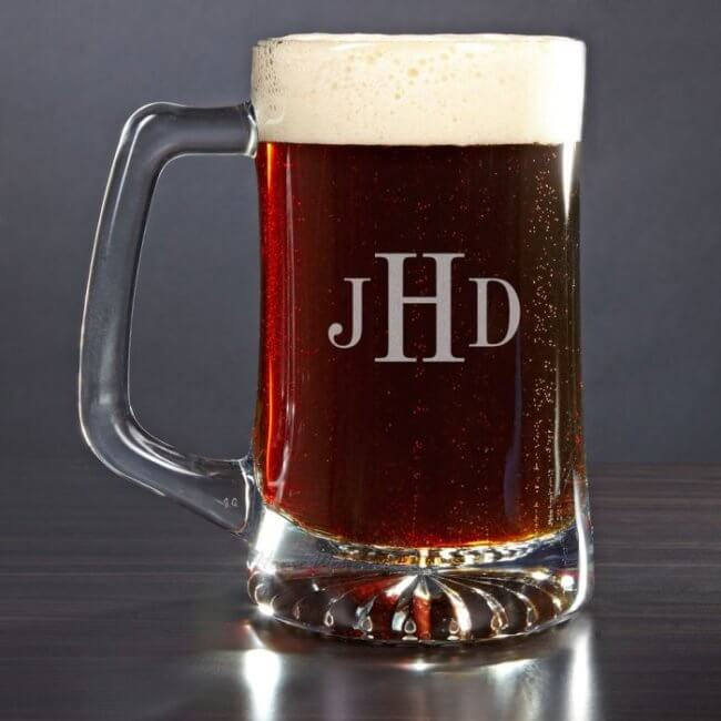 personalized beer mug best man gift