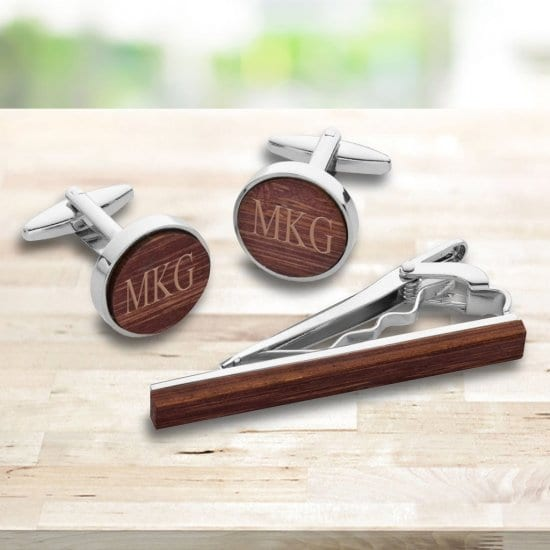 Best Man Gifts are Custom Cufflinks and Tie Clip