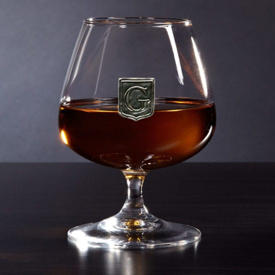 Crested Brandy Snifter