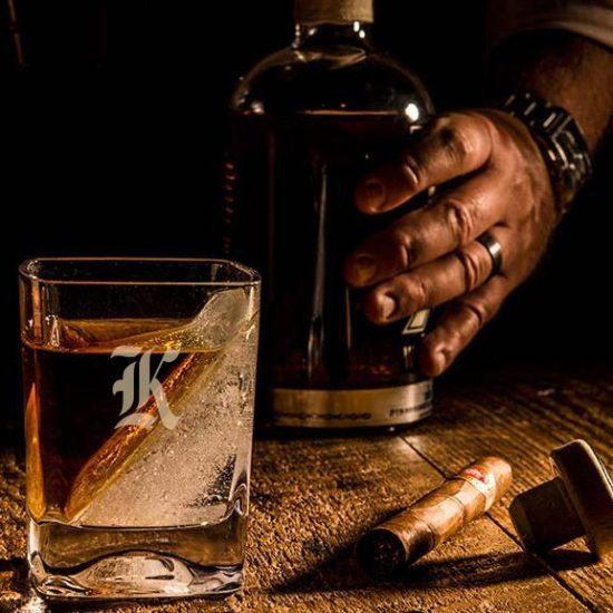 Wedge Ice Whiskey Glass