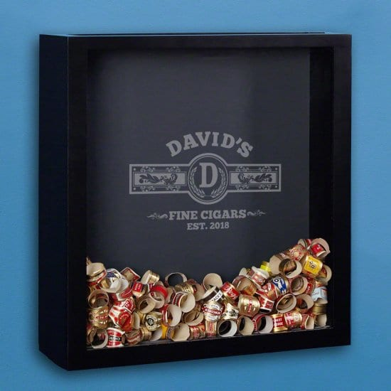 Cigar Wrapper Shadow Box - A Distinguished Boyfriend Gift for Cigar Smokers