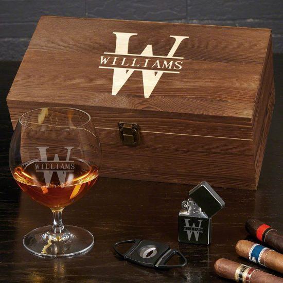 Personalized Cognac Glass Set