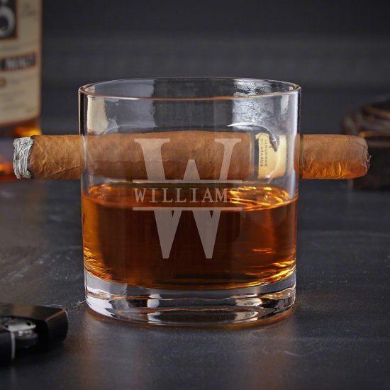 Engraved Cigar Glass