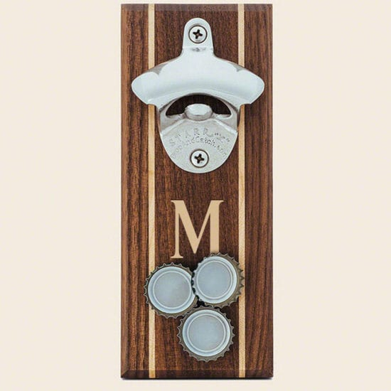 Engraved Wooden Magnetic Bottle Opener