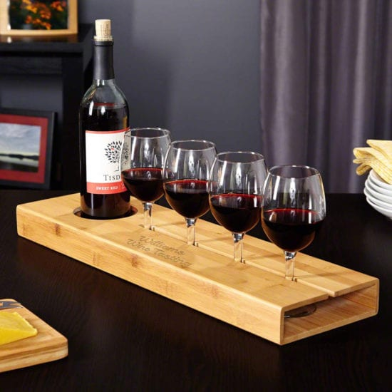 Personalized Wine Serving Tray Gift Idea for Men