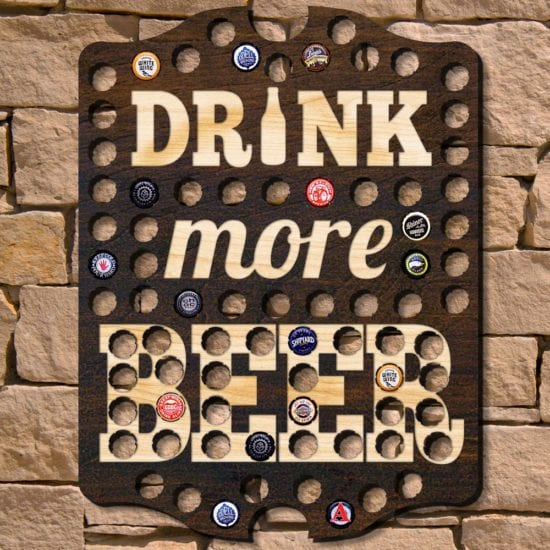 Drink More Beer Wooden Sign Wall Art