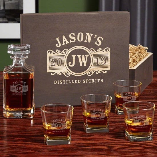 Decanter and Whiskey Glass Gift Box Sets for Men