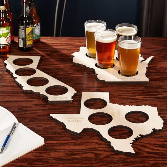 Home State Wooden Beer Serving Tray Gift Idea