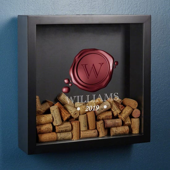 Wax Seal Wine Cork Shadow Box