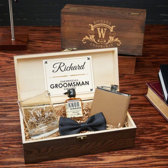 Westbrook Engraved Wooden Box Set Best Man Gift Ideas