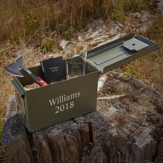 Engraved Ammo Box Groomsmen Gift Sets