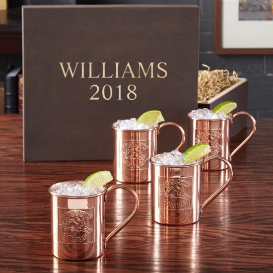Engraved Moscow Mule Gift Box Set for Him