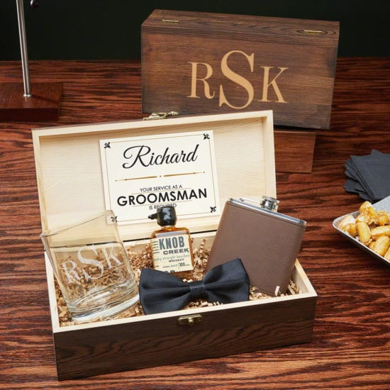 Groomsmen Gift Box Set for Liquor Lovers