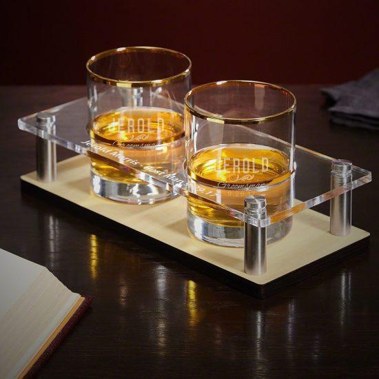 Groomsmen Gift Set Serving Tray for Whiskey Lovers