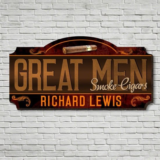Wall Art Wooden Sign for Fathers Who Smoke Cigars