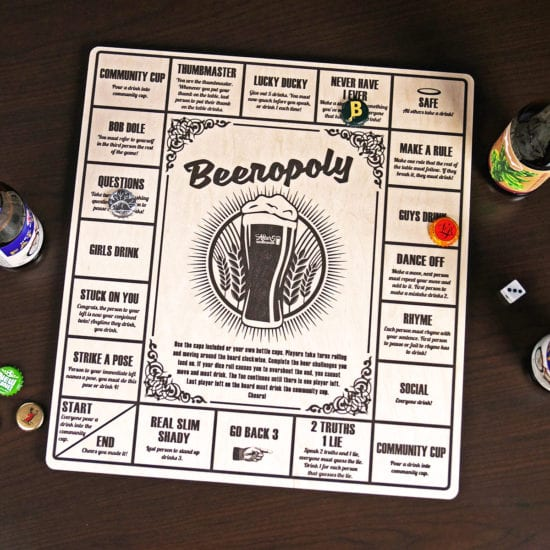 Beeropoly Board Game Gift Idea