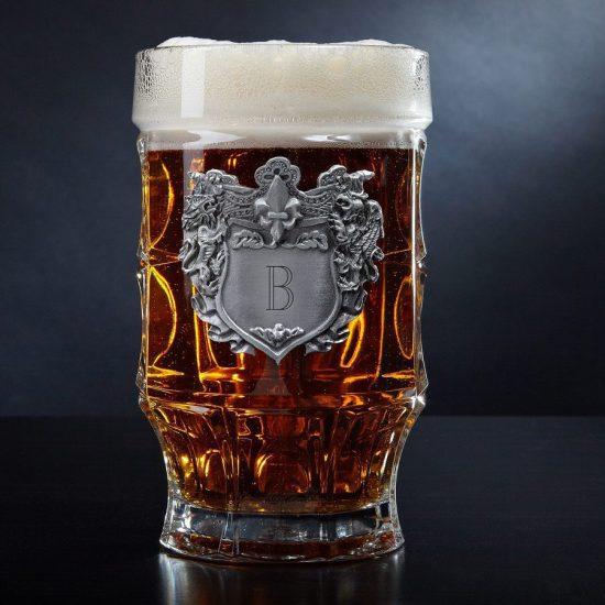 Custom Glass Beer Mug for Dad