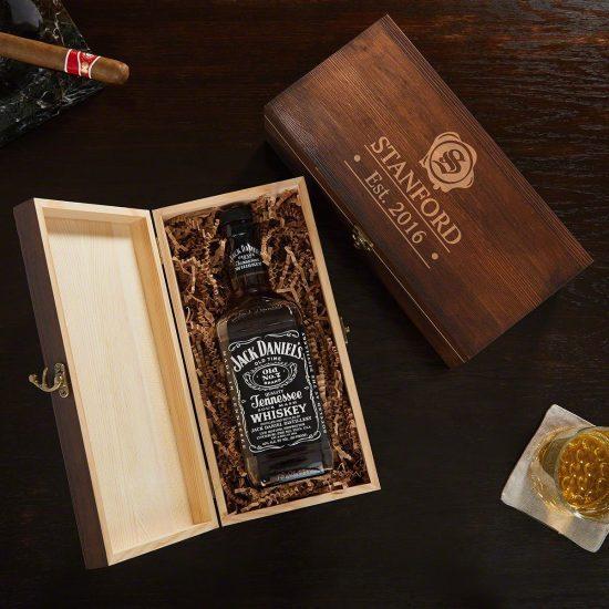 Custom Presentation Liquor Box Gift for Groom