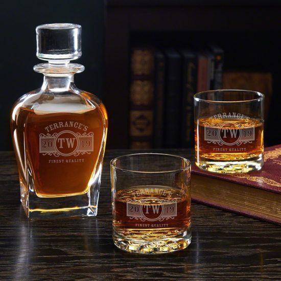 Engraved Decanter Set – For the Groomsmen Who Appreciate His Liquor