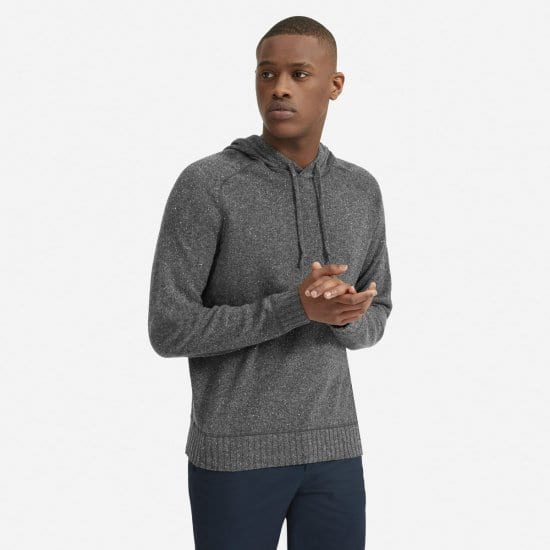 Gray Cashmere Hoodie