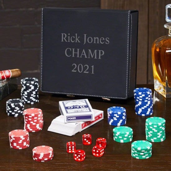 3 Lines Personalized Poker Set