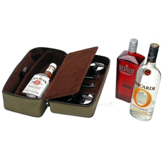 Traveling Bar Set – A Groom Will Never Be Without Their Favorite Liquor