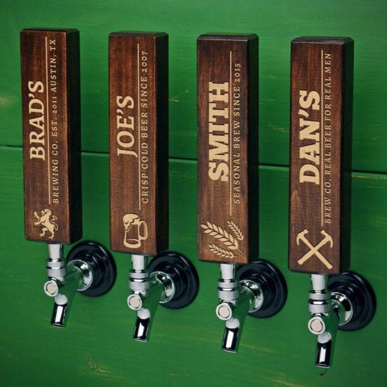 Custom Hardwood Beer Tap Handles – Remarkable Gift for a Groom