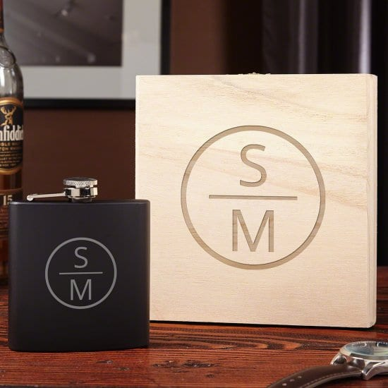 Emerson Flask & Wooden Gift Box