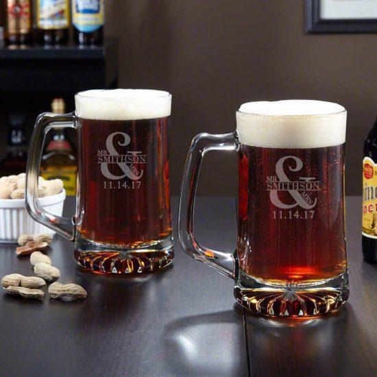Custom Beer Mug Set – A Beer Loving Anniversary Gift for Him