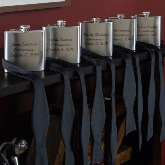 5 Personalized Stainless-Steel Flasks