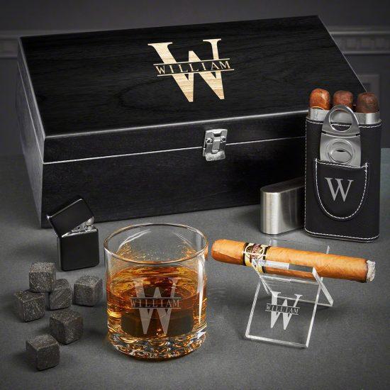 Cigar Whiskey Box Set of 30th Birthday Gift Ideas
