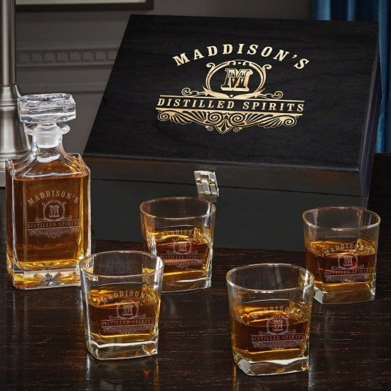 Decanter Boxed Set of 30th Birthday Gift Ideas for HIm