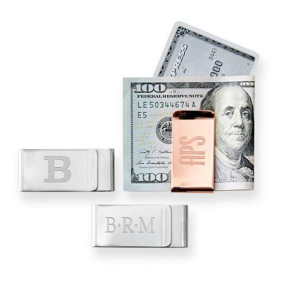 Monogrammed Money Clip