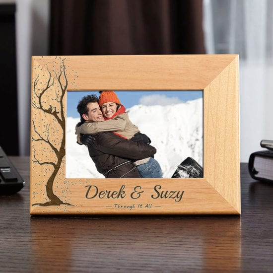 Custom Wooden Picture Frame – Classic Anniversary Gifts for Him