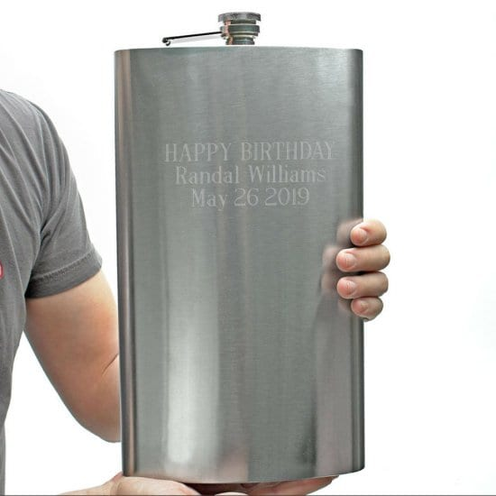 Extremely Large Engravable Flask
