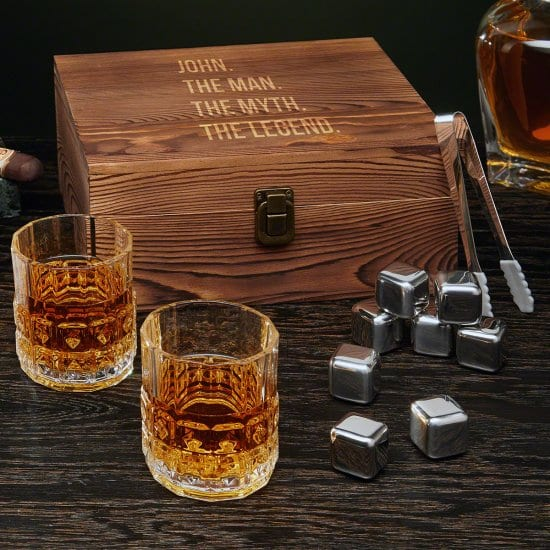 319ef0ccfa1f Some 3-year anniversary gift ideas for him are things he didn t even know  he wanted. This legendary whiskey gift set is one of those gifts.
