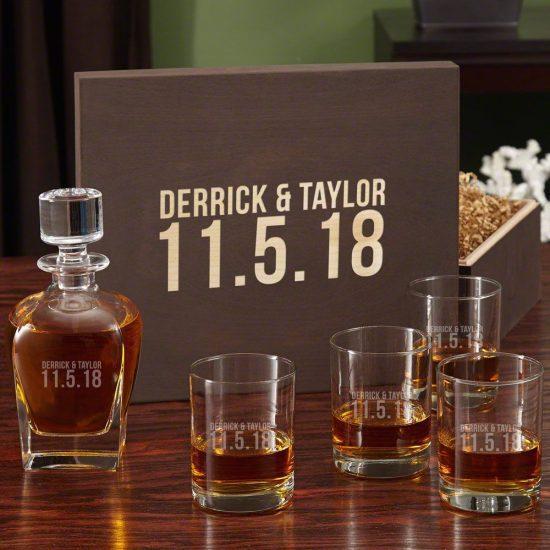 Whiskey Box Set for Weddings